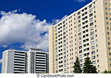 Apartment buildings - Tall residential apartment buildings...