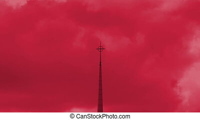 Church Steeple Color and Time Enhance - Church Steeple Color...