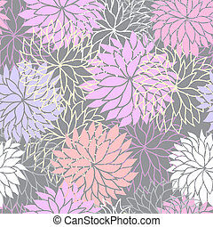 Seamless floral pattern with flowers of chrysanthemum