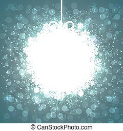 Christmas paper ball. - Glowing shiny christmas ball...