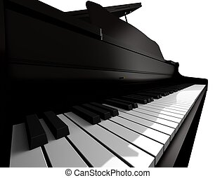 Piano keyboard closeup