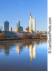 cityview of Frankfurt with river main