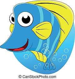 Tropical Butterfly fish - Vector Illustration Of Tropical...