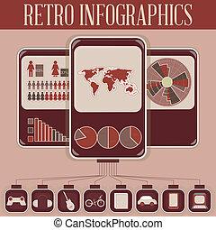 Retro Infographic Phone Design