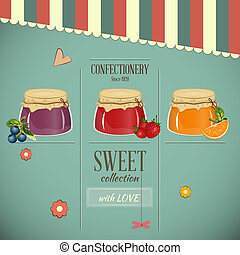 Confectionery Retro Design - Confectionery Menu Card in...