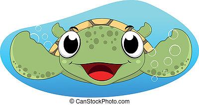 Cute Sea Turtle