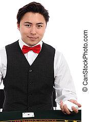 Black Jack Dealer - Black jack dealer with cards, wearing a...