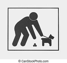 señal, Requerir, perro, dueños, pico, Arriba,...