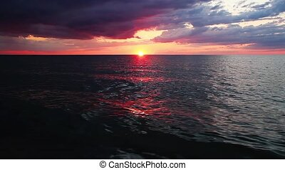 Sunset Over Lake Michigan Loop - Loop features, the setting...