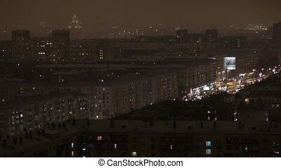 Night Moscow time lapse.