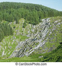 Glenmacnass Waterfall, Wicklow Mountains, County Wicklow,...