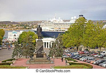 Sevastopol - Nahimov square in Sevastopol, Ukraine