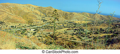 Calabria landscape - Typical landscape of hot Calabria on...