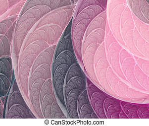 Pink-purple fractal background - Fantasy pink-purple fractal...