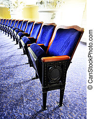 Theater Seats - Row of elegant velvet theater seats