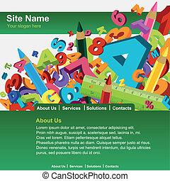 Website template - Education website template