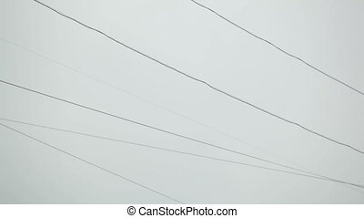 Wires in the city.