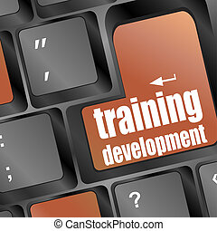 Wording training development on computer keyboard