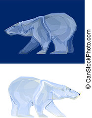 Polar Bear - Polygon Illustration of a White Bear