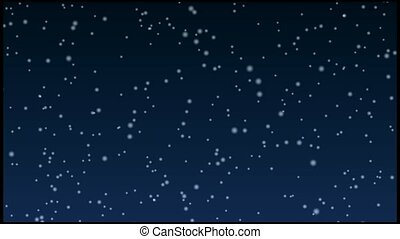 Snow falling over a dark background