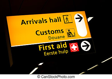 Schiphol Airport - Arrival area in Schiphol airport,...