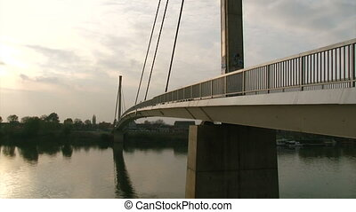 Longest footbridge, Sava river, tilt up