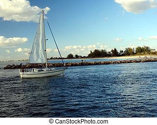 Sail boat.