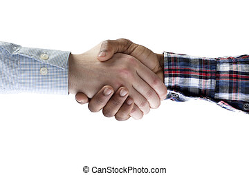 311 business people shaking hands - Close up image of...