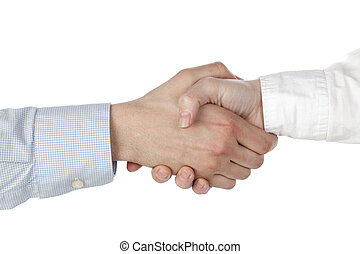 314 hand shake - Close up image of proper hand shake of...