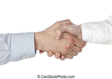 314 hand shake - Close up image of proper hand shake of...