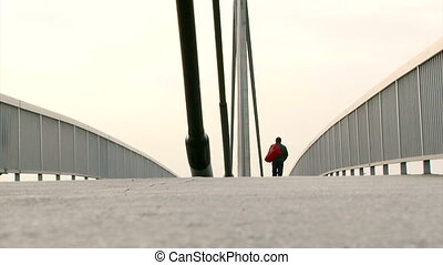 Bridge, low angle - Long Footbridge, low angle
