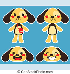 Paper Doll Dog - Cute little paper doll dog with different...