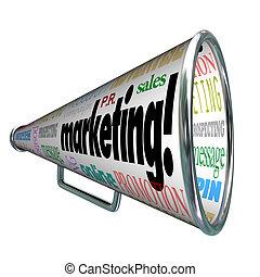 Marketing Bullhorn Megaphone Advertising Sales Message
