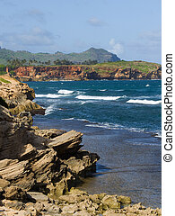 ハワイ \,  Kauai, 海岸線