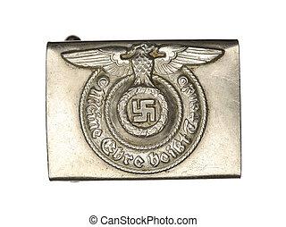 861 german army belt buckle - Macro shot of a German army...