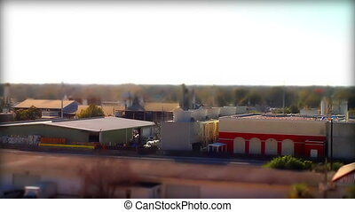 Tilt Shift Orlando Fl Industrial area time lapse
