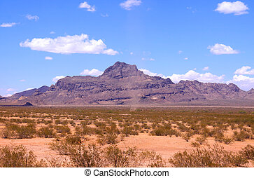 Desert landscape - Mountains in the middle of Sonoran desert