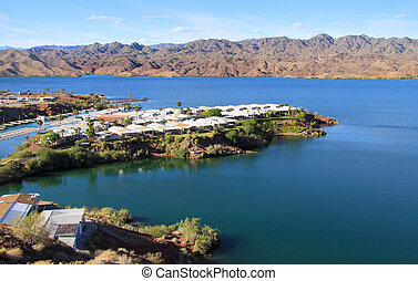 Lake Havasu - Small neighborhood on the island in lake...