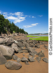 Fundy Shoreline - The shoreline of the Bay of Fundy, New...