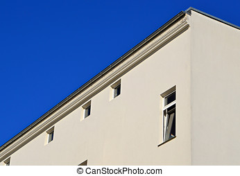 Residential building and blue sky