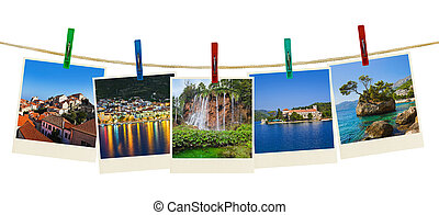Croatia photography on clothespins