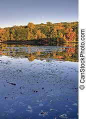 Fall Lake at Sunset