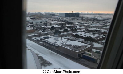 Toronto winter landing. 2 of 2. - Commercial jet landing in...