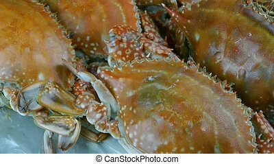 Delicious crab within dial platefisheries