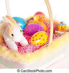 Easter Bunny and Basket - Easter Bunny and Easter basket...