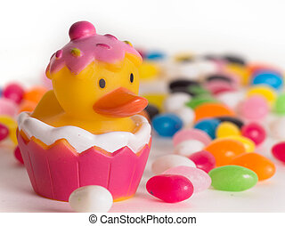 Easter Rubber Ducks - Easter rubber ducks with colorful...