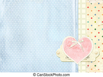 Valentine background - Vintage grunge valentine background...
