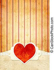 Valentine background - Vintage grunge valentine background...
