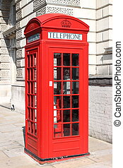 London red telephone box - The typical London red telephone...