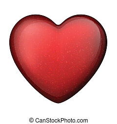Classical red heart with stars.